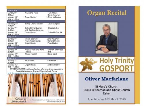 Oliver Macfarlane: Organ Recital